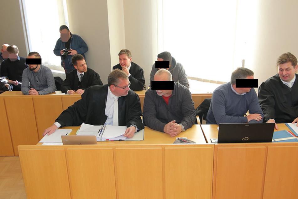 """Der """"Bürgerwehr""""-Prozess in Kamenz. Das Verfahren wurde letztlich wegen """"Geringfügigkeit"""" eingestellt."""