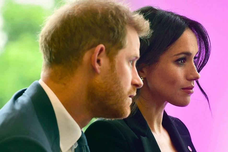 Herzogin Meghan (37) mit Prinz Harry (33).