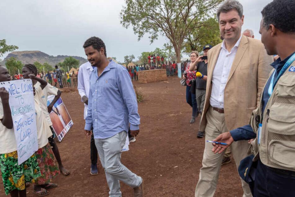 Bayerns Ministerpräsident und CSU-Chef Markus Söder reist aktuell durch Äthiopien.