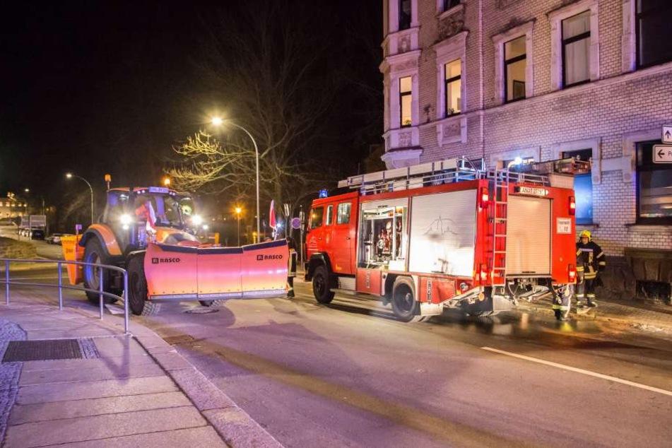 In Annaberg-Buchholz war es zu einem Küchenbrand gekommen.