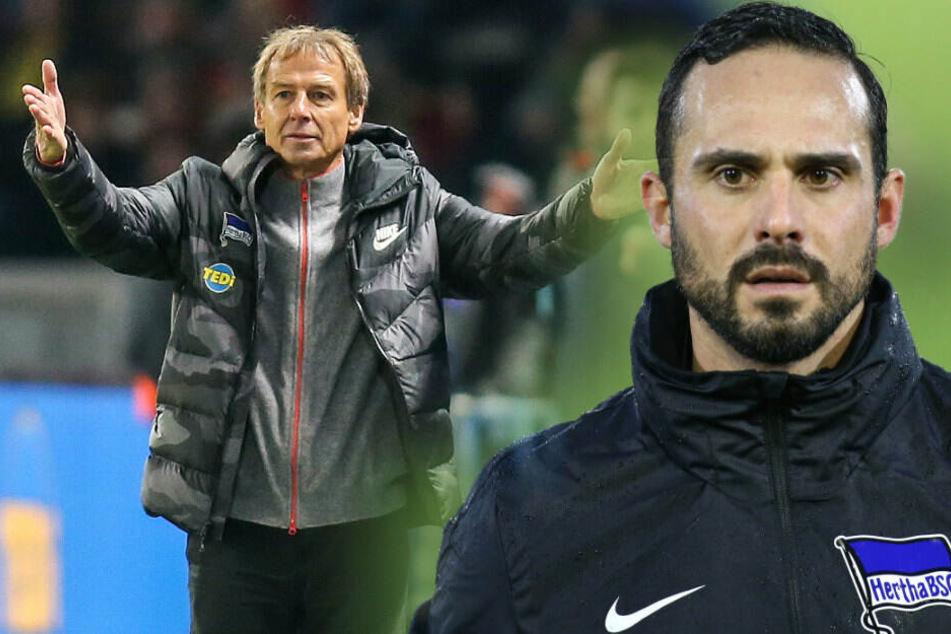 Jürgen Klinsmann und Co-Trainer Alexander Nouri haben bei Hertha BSC einen Vertrag bis Saisonende.