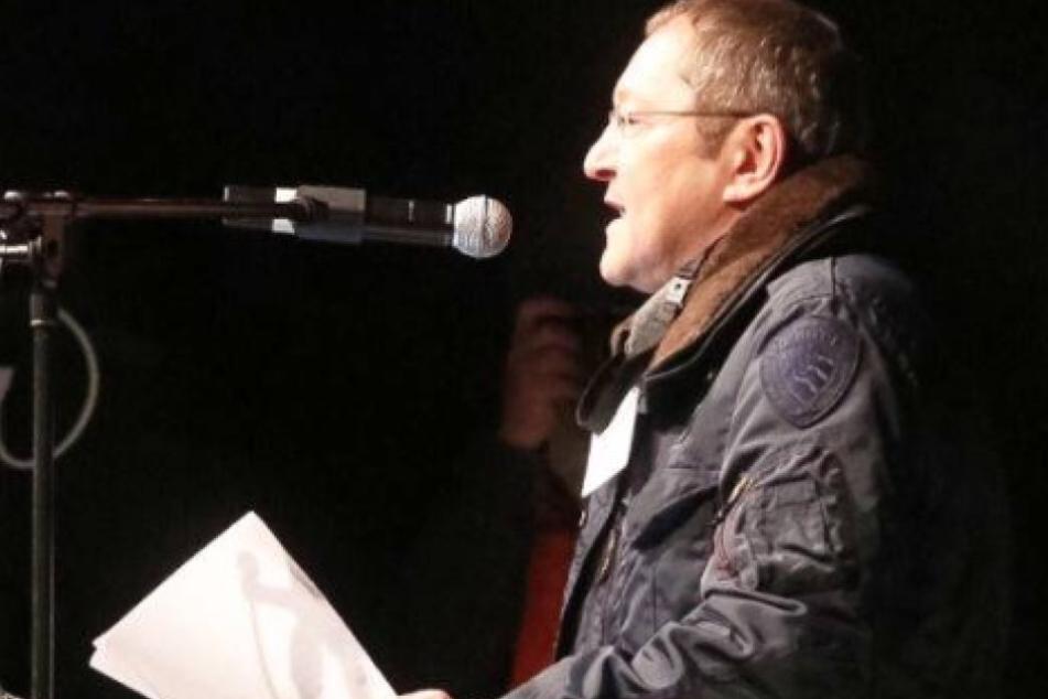 Akif Pirincci (57) am 19. Oktober 2015 auf dem Theaterplatz.