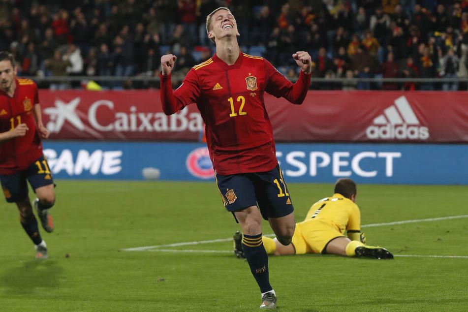 Dani Olmo hier im Trikot der spanischen Nationalmannschaft. Für die Roten Bullen wäre er eine Verstärkung für die Offensive.