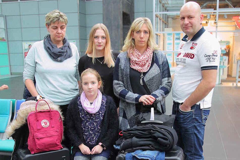 Auch Familie Reihe aus Stralsund konnte ihren Flug in den Urlaub nicht antreten.