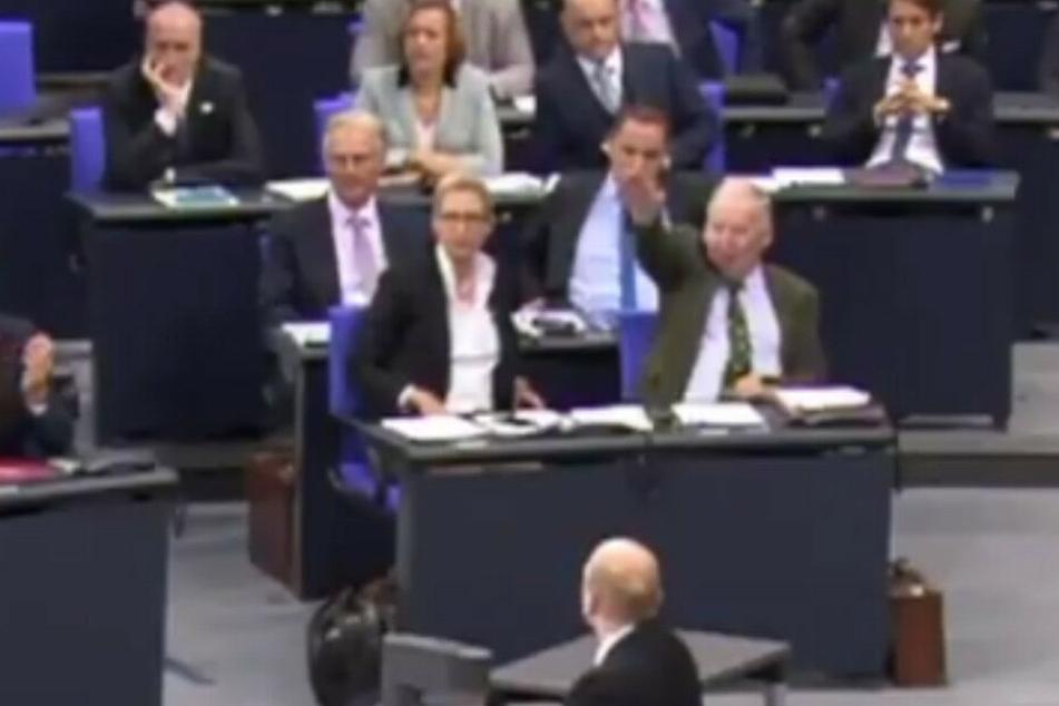 Das Netz rätselt: Zeigt hier Gauland den Hitlergruß im Bundestag?