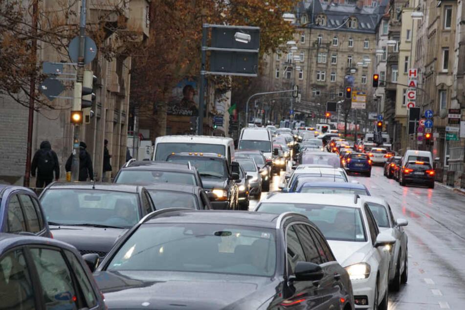Verkehr in Stuttgart.