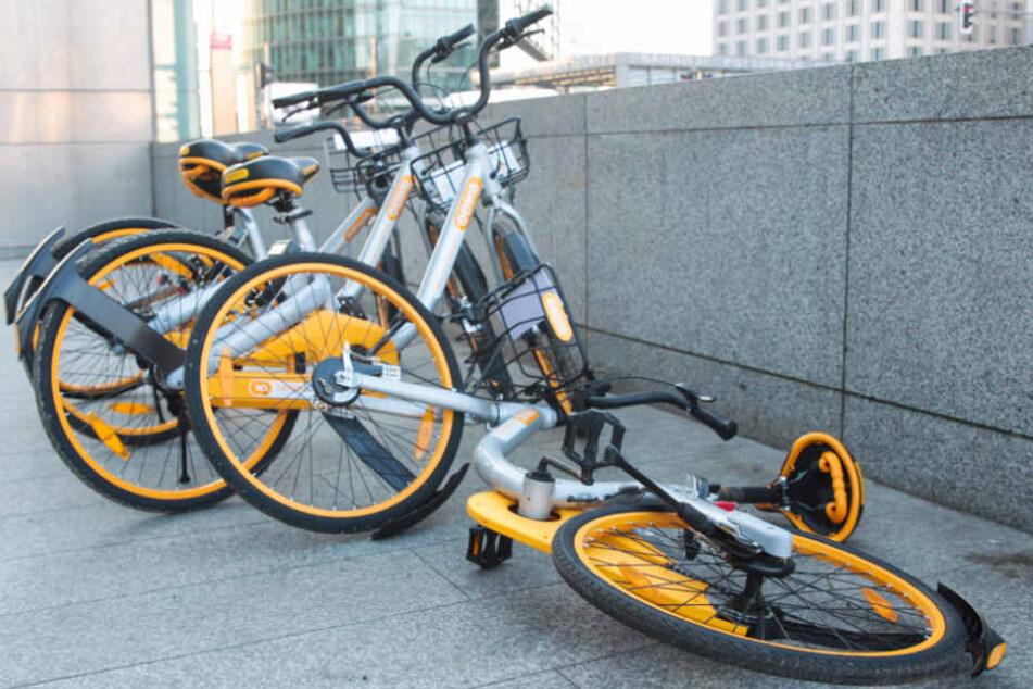 Der Leihanbieter oBike hat reagiert: Viele Räder wurden aus München entfernt.