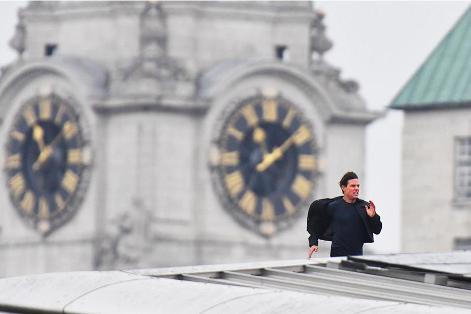 Über den Dächern von London: Tom Cruise durfte sich austoben - verletzte sich bei einem Sprung aber so schwer, dass die Dreharbeiten monatelang unterbrochen werden mussten.
