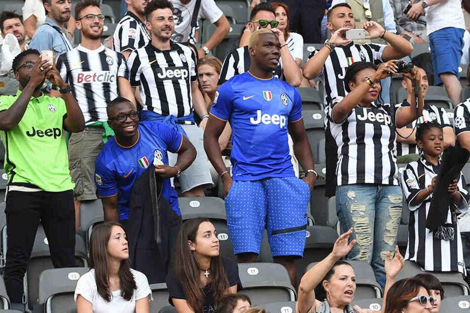 Unterstützt seinen Bruder Paul regelmäßig von der Tribüne aus: Florentin Pogba und Familie beim Champions-League-Finale 2015 in Berlin zwischen Juventus Turin und dem FC Barcelona.