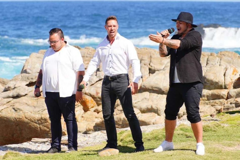 Ein gutes Team: Francesco (v.l.), Ramon und Raphael rocken ihren Auftritt.