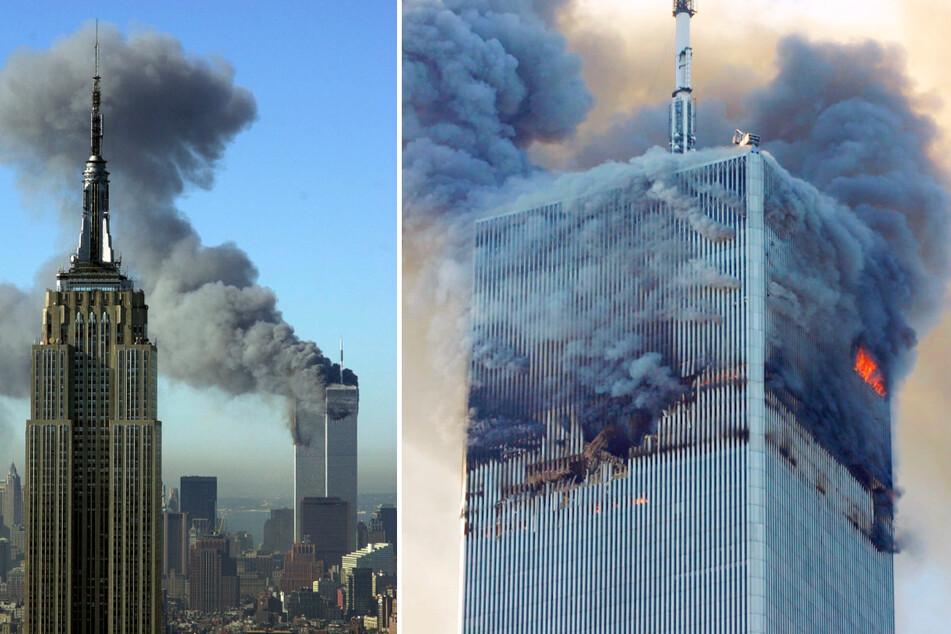 Nachdem Terroristen flogen am 11. September 2001 mit zwei entführten Flugzeugen in das World Trade Center und brachten die Zwillingstürme zum Einsturz.
