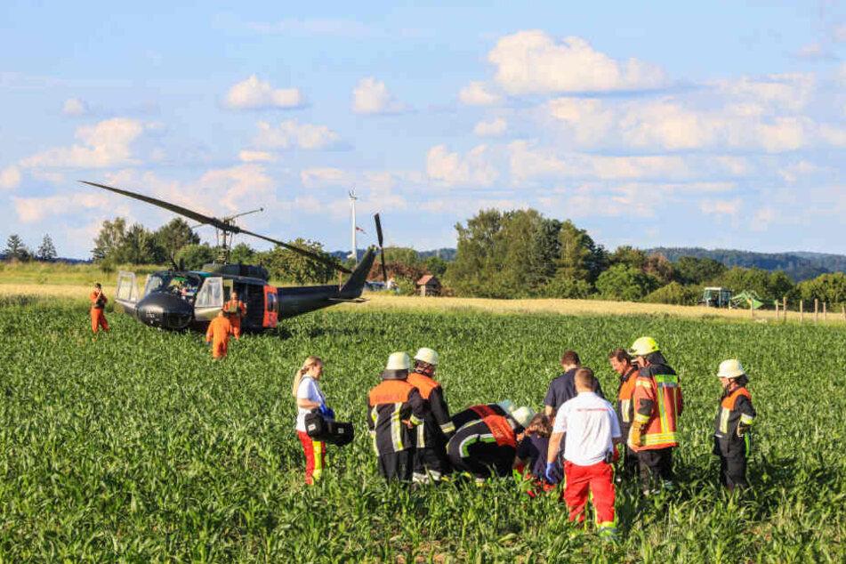 Die Schwerverletzten wurden in Krankenhäuser gebracht.