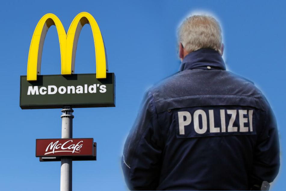 Während Polizeibeamte versuchten zu beruhigen, wurden sie angegriffen. (Fotomontage/Symbolbild)