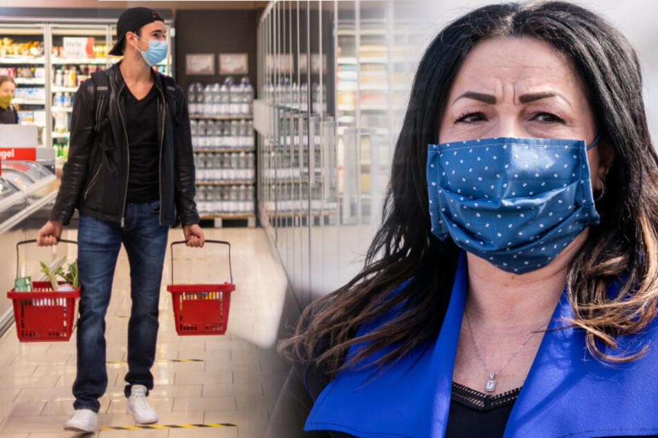 Berlins Gesundheitssenatorin Dilek Kalayci wünscht sich auch beim Einkaufen eine Maskenpflicht.