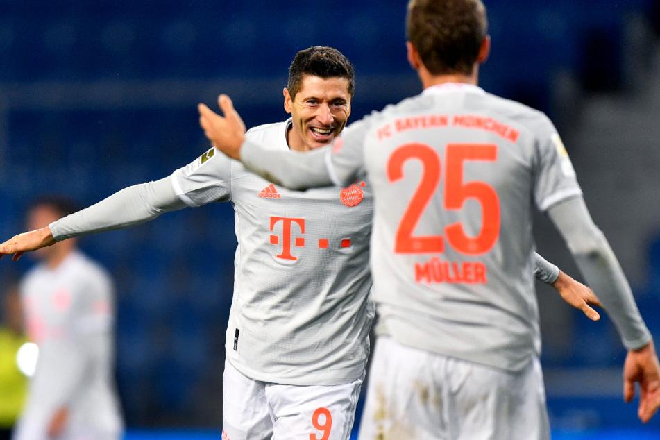 Waren schlichtweg zu gut für Arminia Bielefeld: Robert Lewandowski (l.) und Thomas Müller.