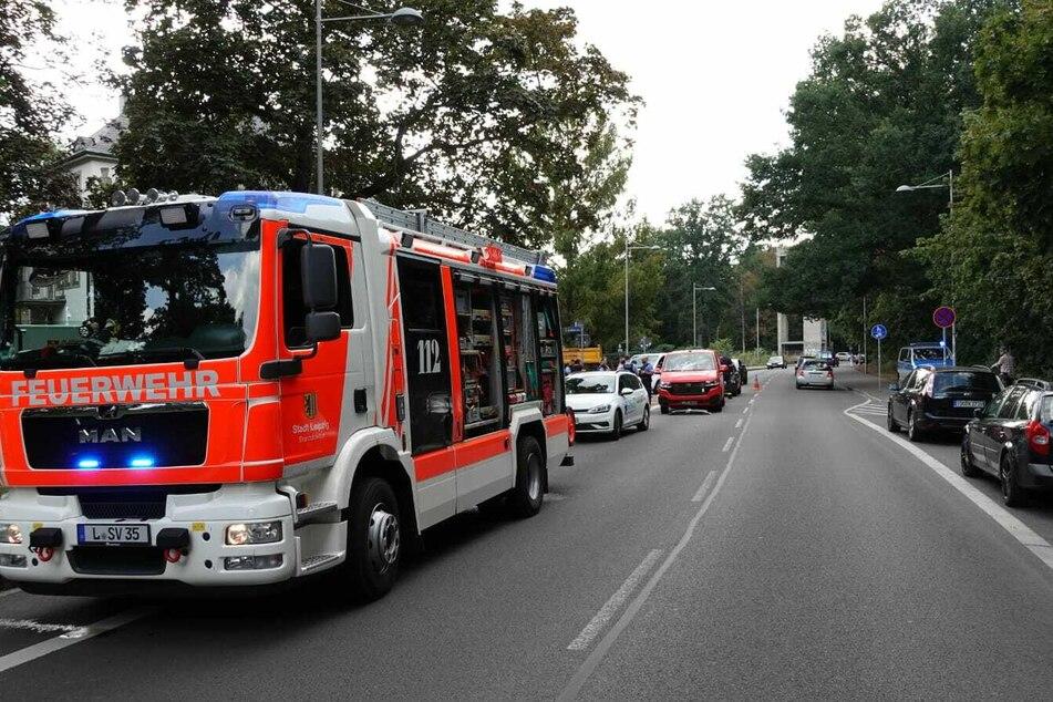 Feuerwehr und Rettungswagen waren vor Ort.