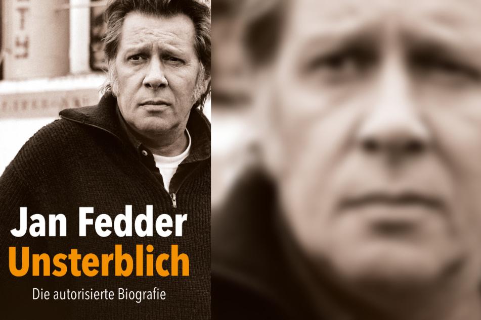 """Das Cover der Autobiografie """"Jan Fedder – Unsterblich"""", das der Schauspieler vor seinem Tod zusammen mit dem Auto Tim Pröse schrieb."""