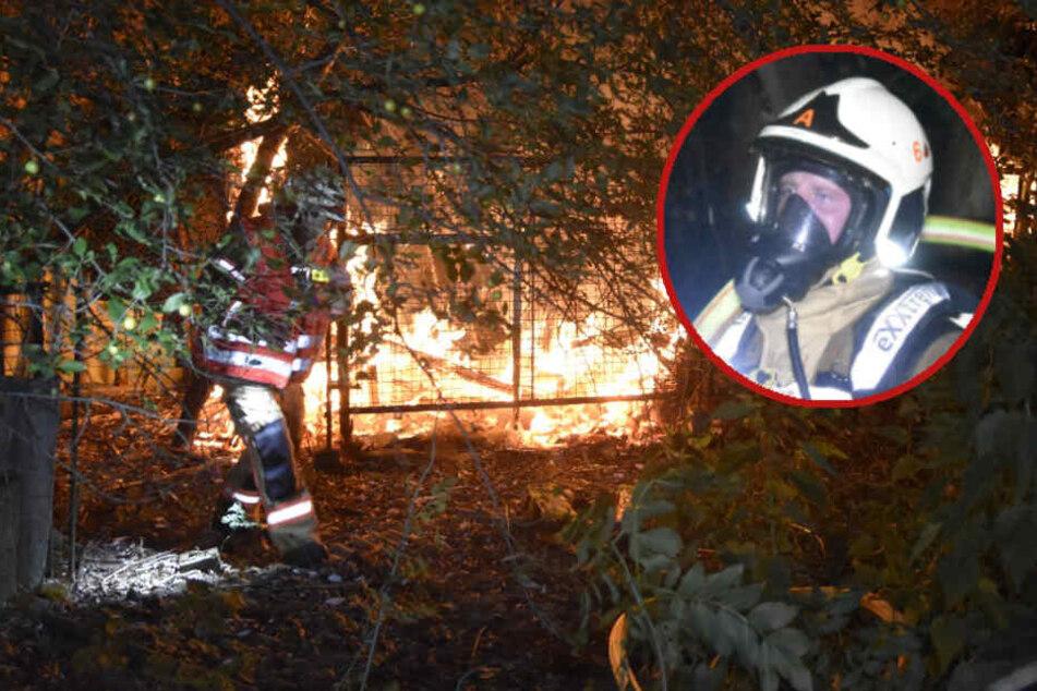 Feuer in Asbest-Bungalow löst fast Waldbrand in Neuruppin aus