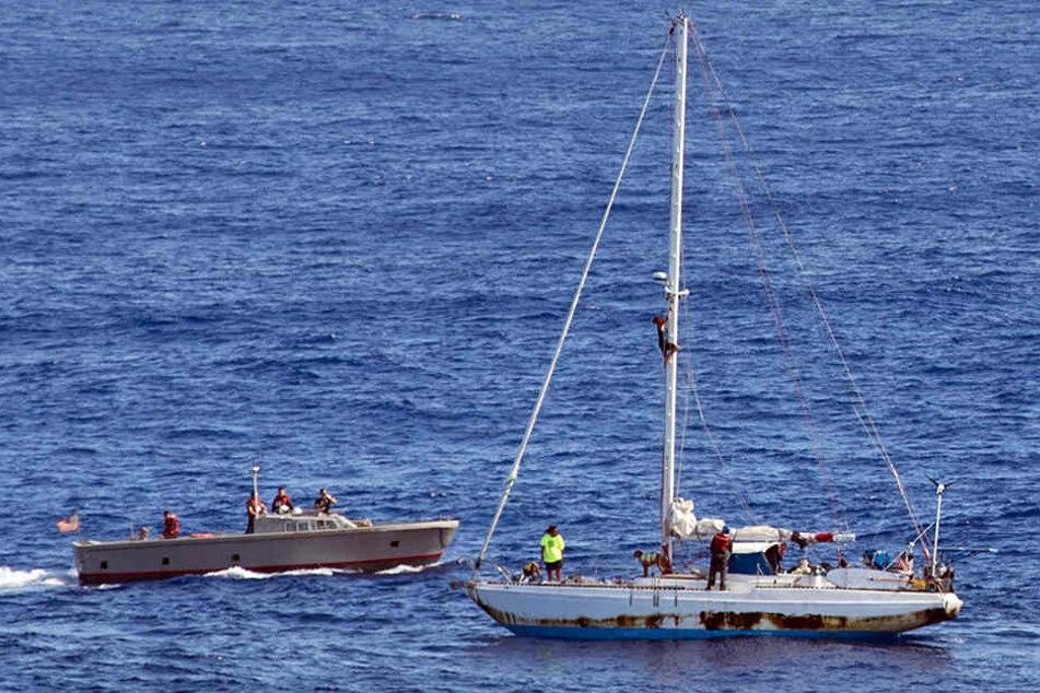 Die beiden Seglerinnen schipperten fünf Monate über den Pazifik.
