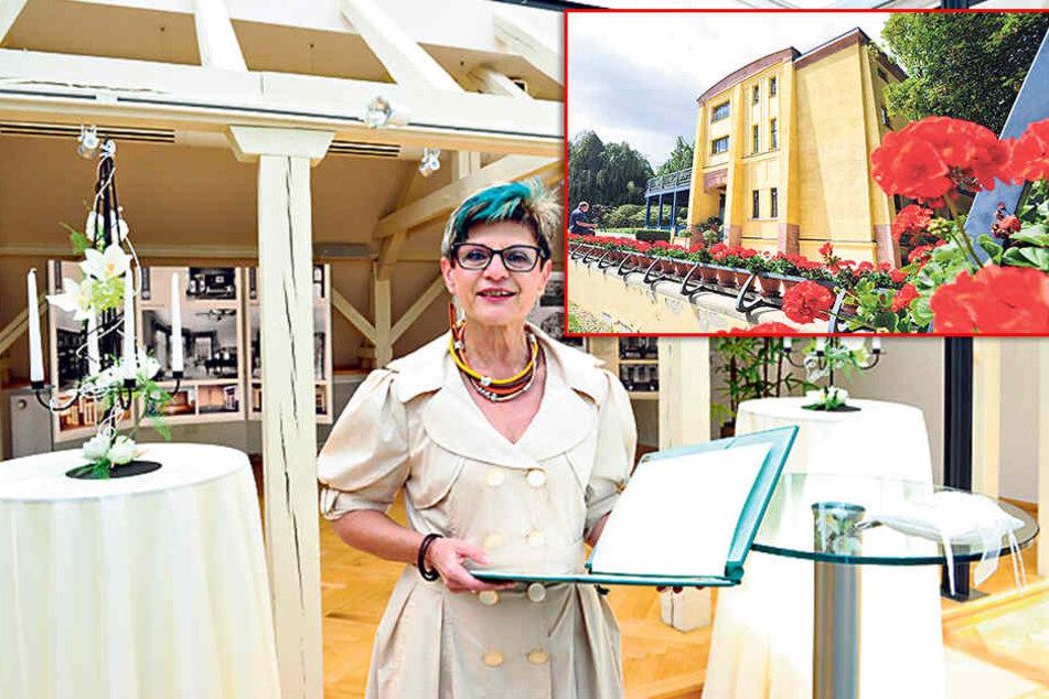 Hochzeitslocation Villa Esche: Standesbeamtin Maria Lieberwirth (60) traute das Paar