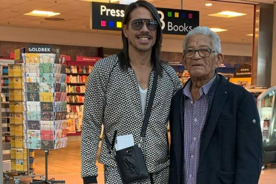 Jorge mit seinem Vater in seiner Wahl-Heimat Hamburg.