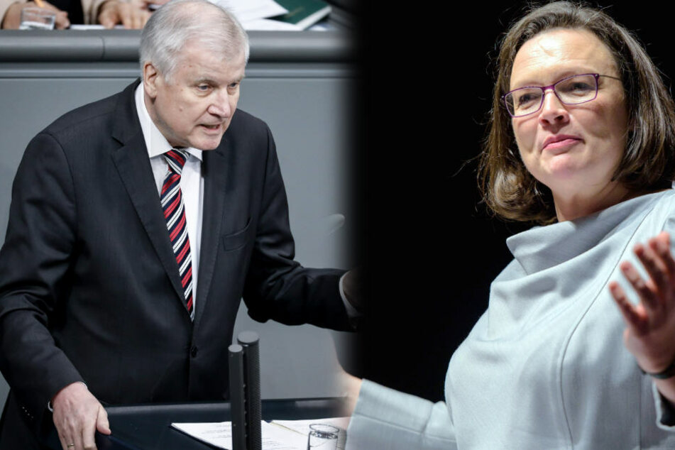 Die designierte SPD-Chefin Andrea Nahles (47) geht Innenminister Horst Seehofer (68, CSU) an.