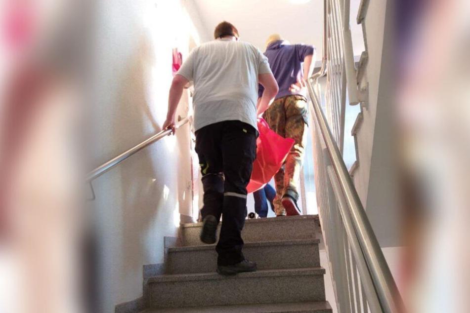 Sechs schwerst Pflegebedürftige saßen im Speisesaal fest, ehe sie auf ihre Zimmer getragen wurden.