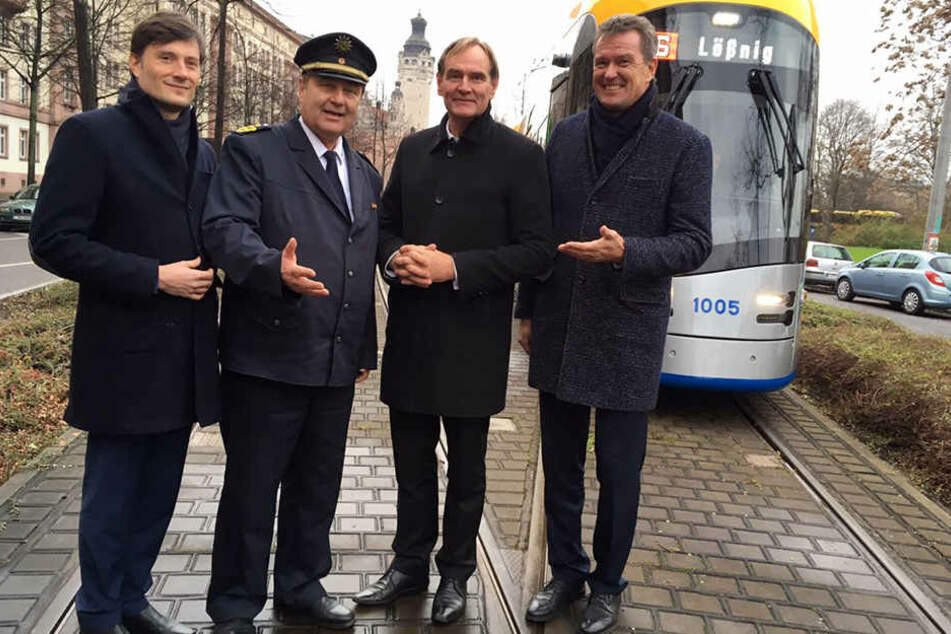 (v.l.n.r.) Heiko Rosenthal (43, Linke), Bernd Merbitz (61), Burkhard Jung (59, SPD) und Ronald Juhrs (58) stellten am Dienstagmittag das neue Sicherheitskonzept vor.