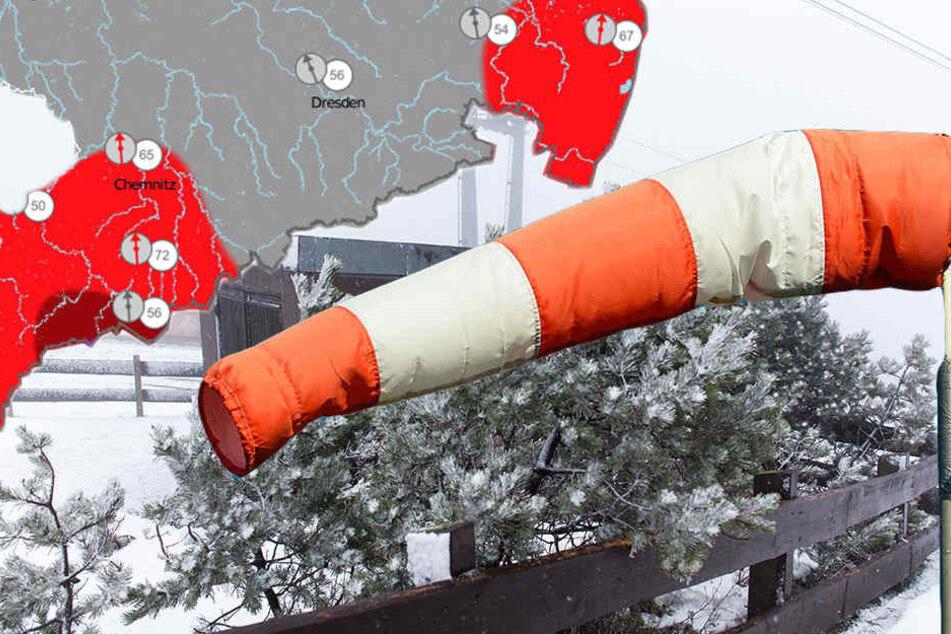 Der Wetterdienst warnt vor Sturm bis zur Windstärke 11.