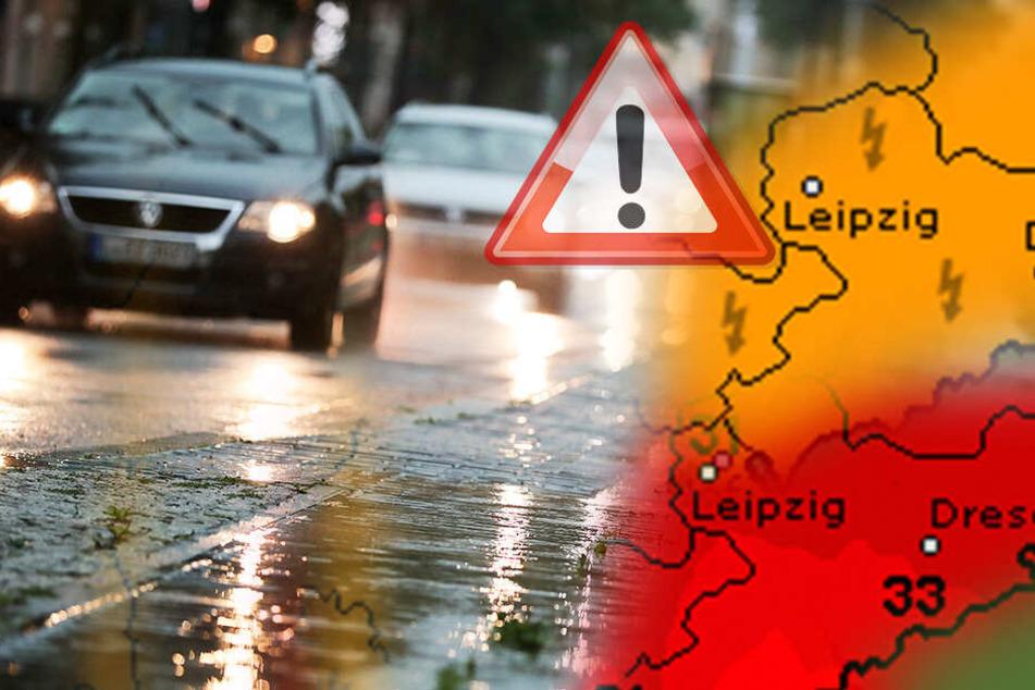 Nach der Hitze folgen die Unwetter: am Mittwoch und Donnerstag werden in Sachsen mit Starkregen, Hagel und Sturm gerechnet.