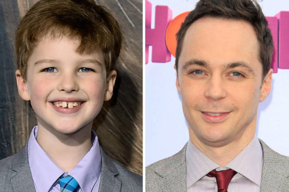 Der junge und der alte Kult-Nerd Sheldon Cooper: Die US-Schauspieler Iain Armitage (9) und Jim Parsons (45).