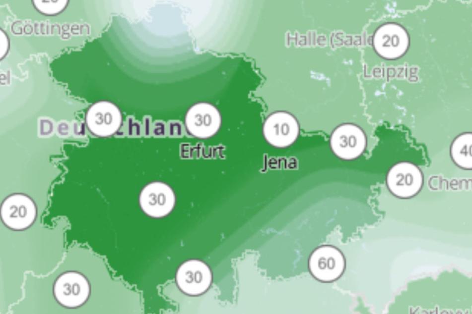 Im Süden wird es Schnee geben, doch für den Rest Thüringens sieht es eher schlecht aus.