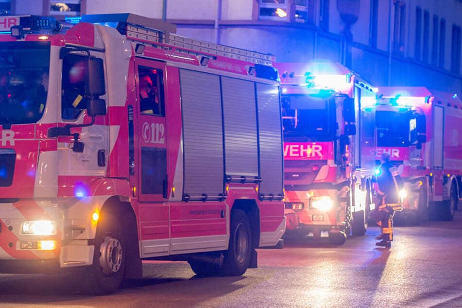 Fabrikgebäude in Flammen: Zwei Mitarbeiter verletzt