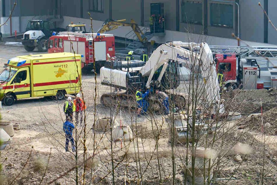 Arbeitsunfall im Erzgebirge: Arbeiter stürzt metertief in Grube
