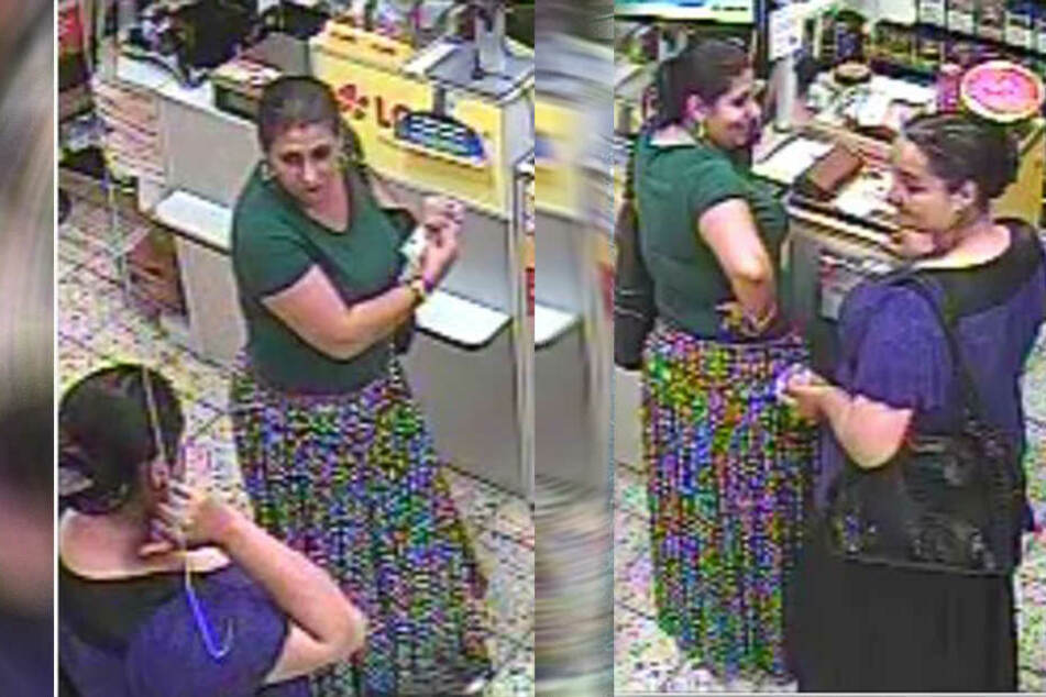 Eine Überwachungskamera filmte die Frauen bei ihrem dreisten Betrug.