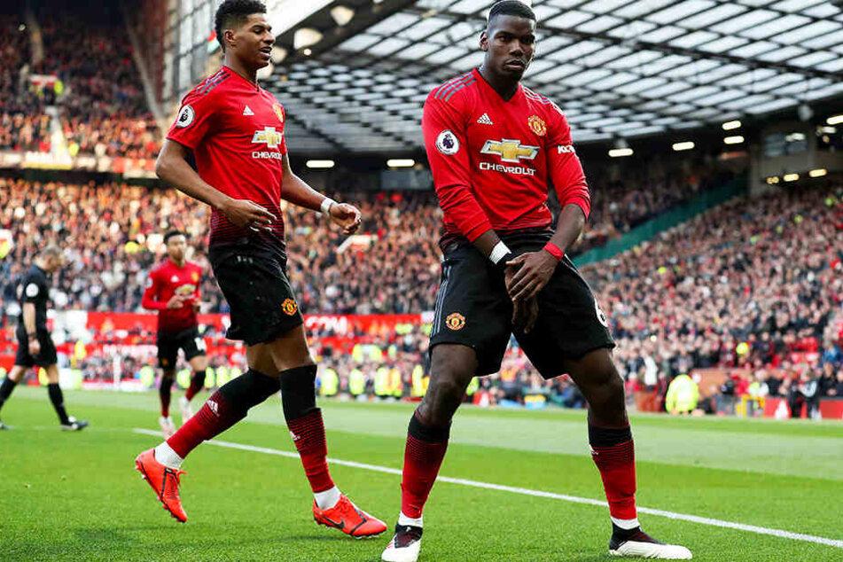 Paul Pogba (r.) möchte Manchester United noch in diesem Sommer verlassen.