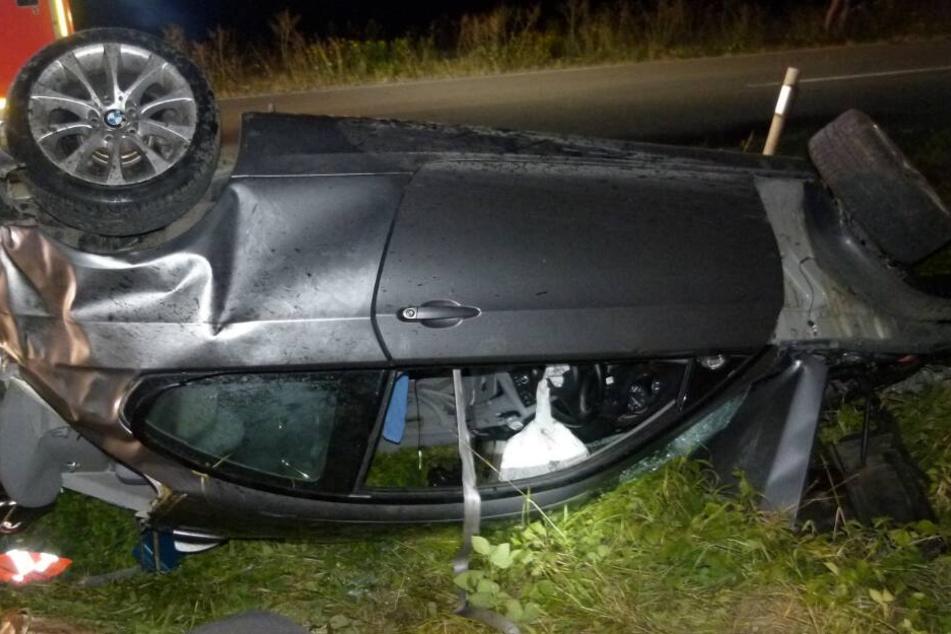 Der BMW des Mannes überschlug sich mehrfach.