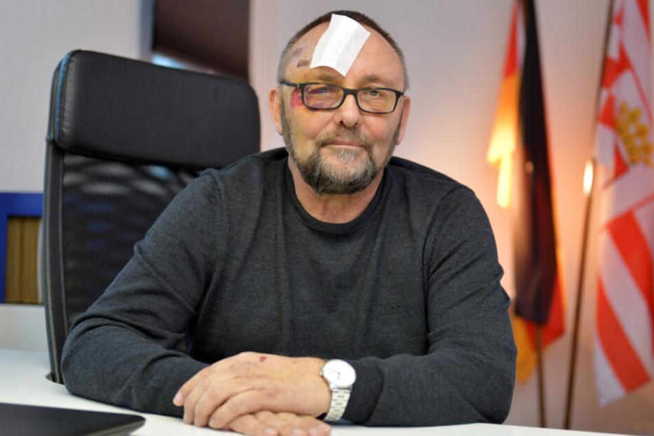 Frank Magnitz wurde bei dem Angriff verletzt.