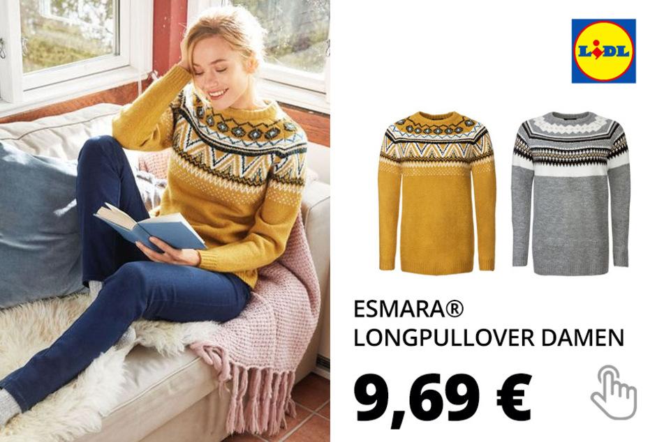 ESMARA® Longpullover Damen, mit Rundhalsausschnitt (nur online)