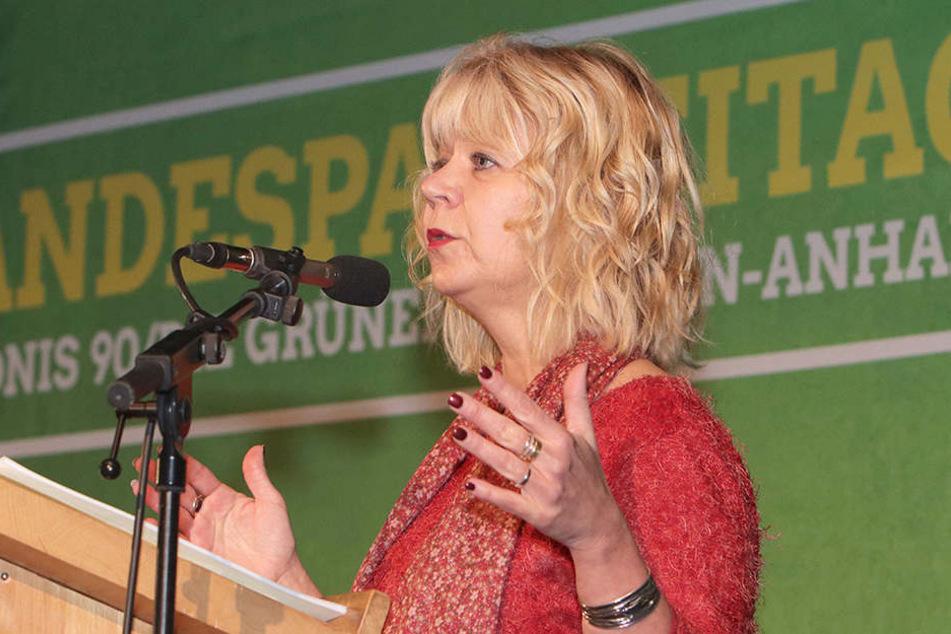 """Cornelia Lüddemann, Fraktionsvorsitzende der Grünen im Landtag von Sachsen-Anhalt ist der Meinung, dass Zuwanderung gebraucht wird, """"weil ein Drittel der Arbeitsfähigen in Sa.-Anhalt vom Markt geht""""."""
