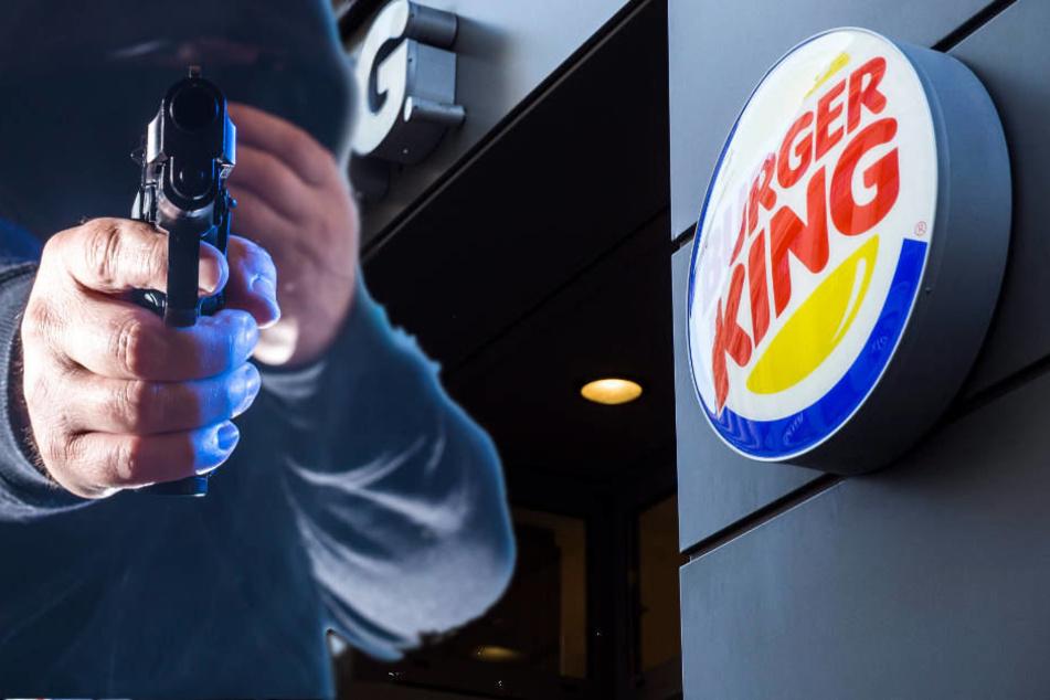 Raub mit Schusswaffe! Maskierte Männer überfallen Burger King