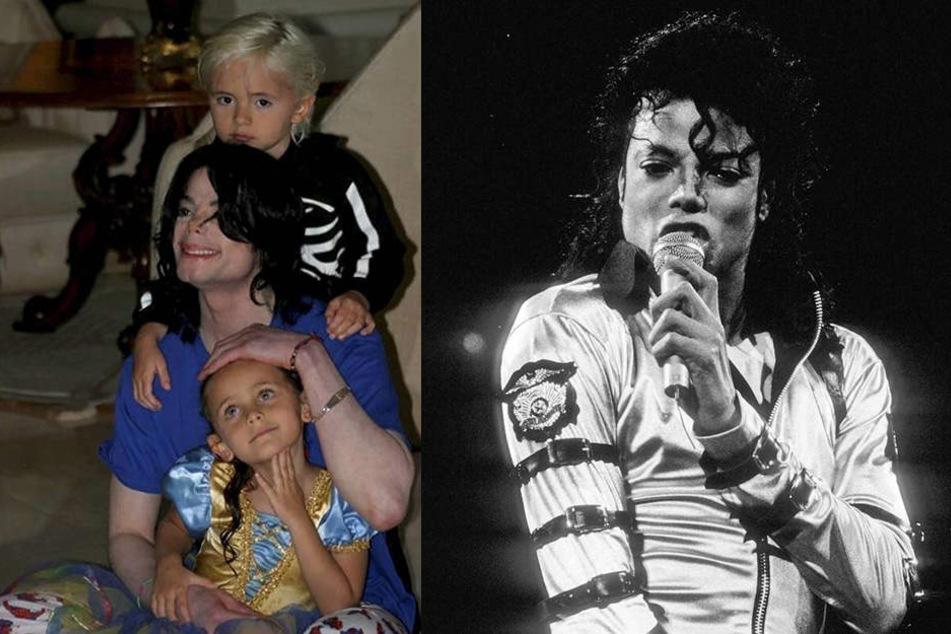 Ein Bild aus schönen Zeiten: Michael Jackson (†50) mit seinen Kindern Michael Joseph und Paris.