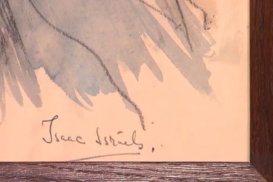 Am Anfangsbuchstaben der Signatur könne man Radierungen erkennen.
