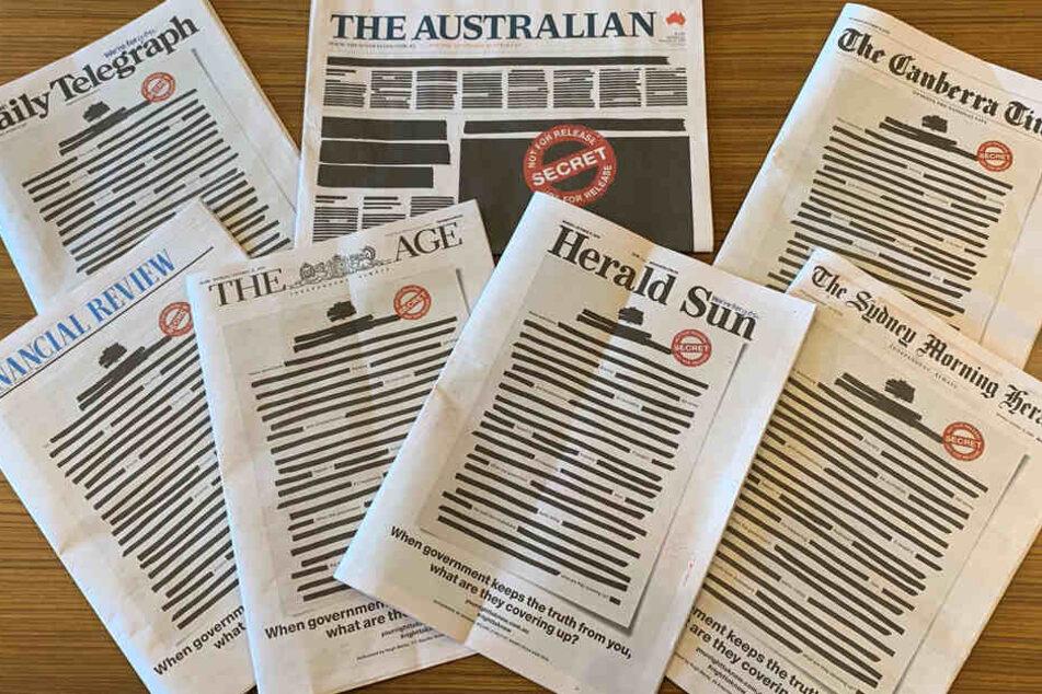 Deshalb sind die Titelseiten dieser Zeitungen geschwärzt