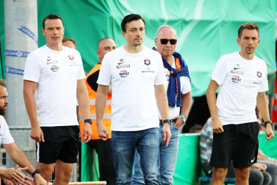 Der FC Erzgebirge Aue hat die Verträge mit Daniel (vorne) und André Meyer (r.) aufgelöst.