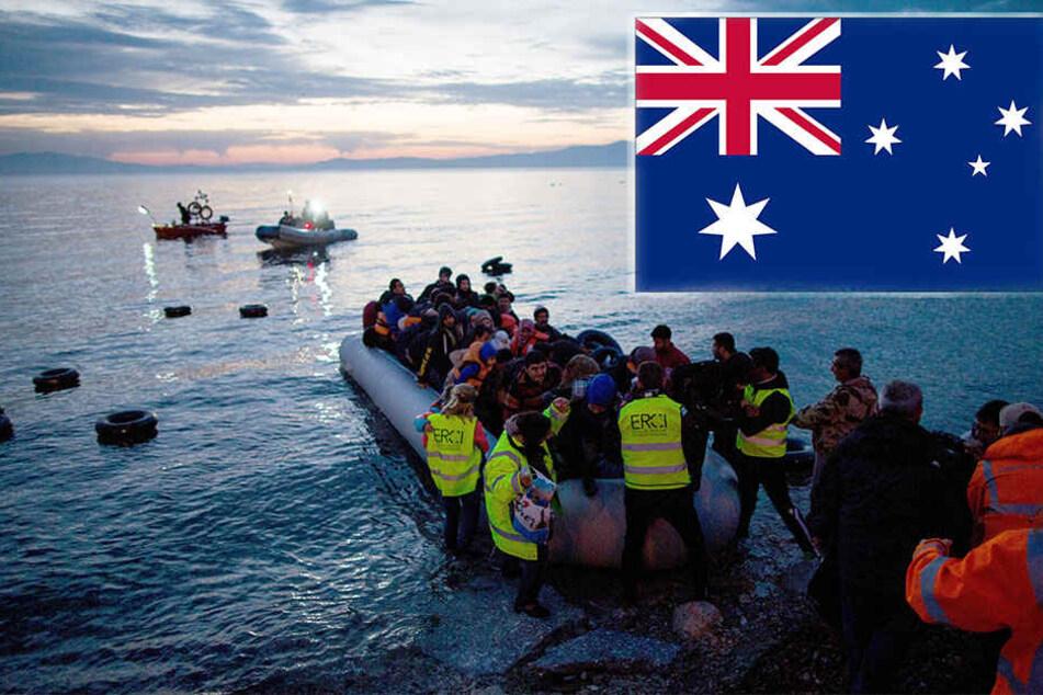 Bootsflüchtlinge kommen am Festland an (Symbolbild).