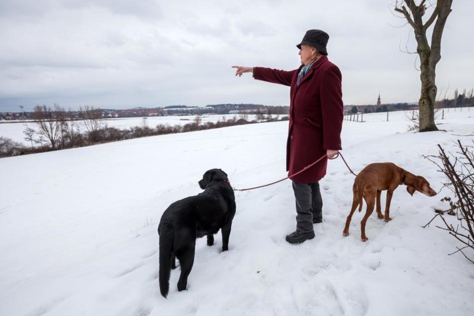 Rosmarie Georgi hörte beim Spaziergang mit ihren Hunden die lauten  Schreie.