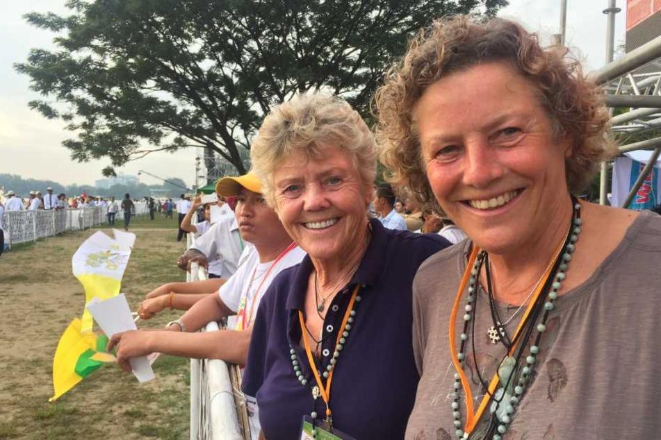 Die Schwestern aus Hessen besuchten den Papst in Myanmar.