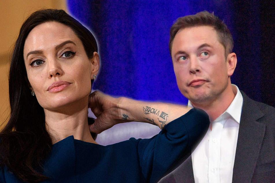 Alles aus, bevor es richtig begann: Angelina Jolie (42) und Elon Musk (46).