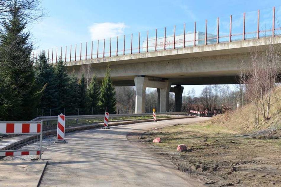 Die A4-Saubachtalbrücke wird repariert.